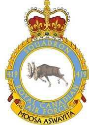 RCAF 419 Moose squadron_badge