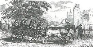 Een oud Hollandse reiswagen