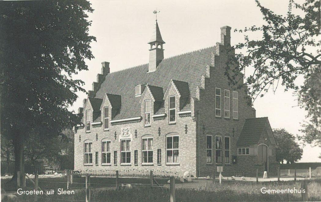 Gemeentehuis Sleen ca. 1938