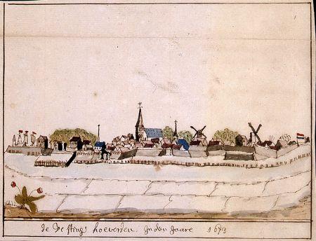 Gezicht op Coevorden Andries Schoemaker 1673 Drents Archief