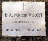 Grafsteen B.A. van der Voort