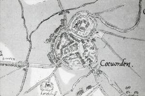 Oude kaart Jacob van Deventer