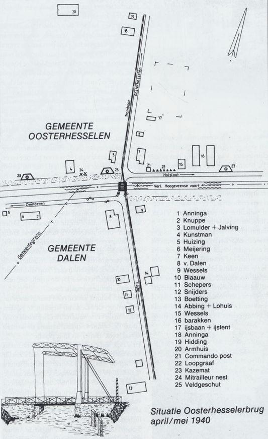 Situatie Oosterhesselerbrug april_mei 1940