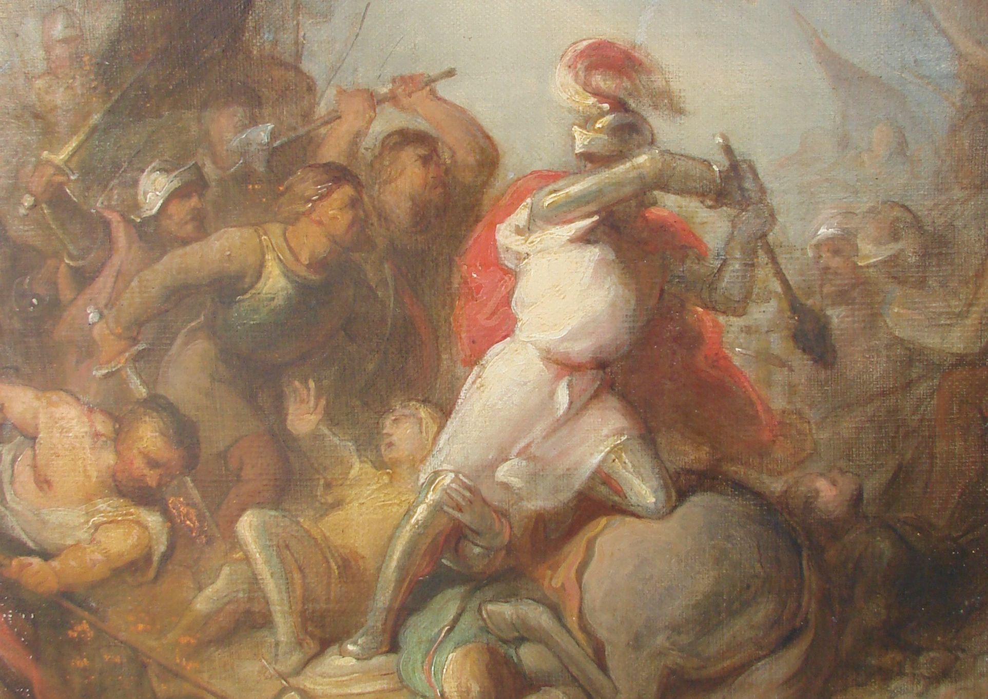 Slag bij Ane door Anton Frederik von Zurcher_bron Historisch Cultureel Info Centrum Vechtdal te Gramsbergen