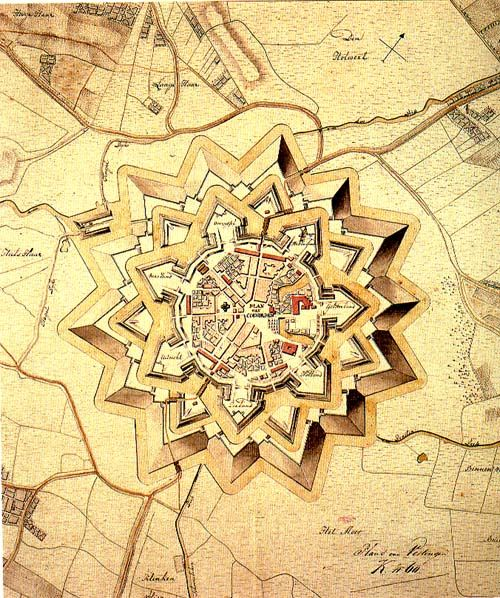 Vesting Coevorden rond 1850
