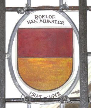 Wapen Roelof van Munster in het kasteel